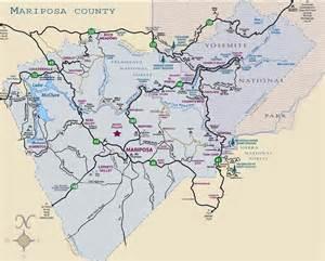 mariposa california map map of mariposa county