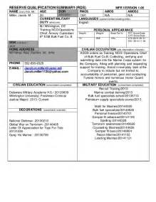 Usmc Counseling Sheet Template by Rqs Lcpl Miller