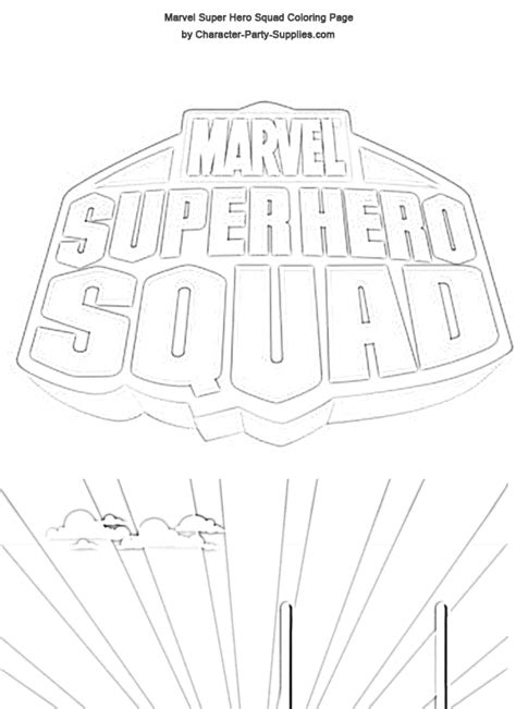 Superhero Squad Coloring Pages Superhero Coloring Pages Squad Coloring Page