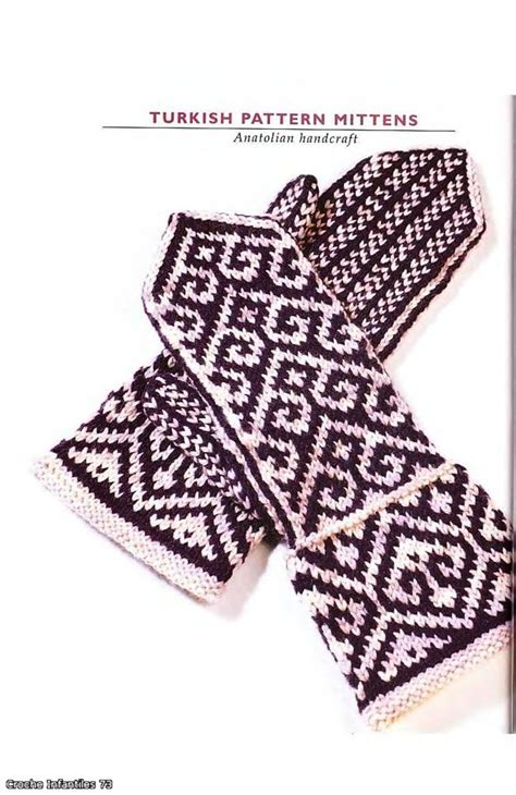 turkish knitting patterns turkish pattern mittens knitting tutorial crafts ideas