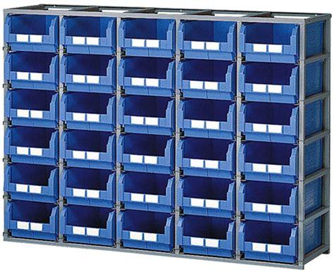 cassette bocca di lupo scaffalature sovrapponibili contenitori plastica misura 4