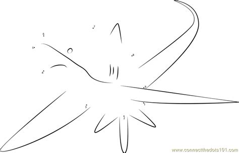 thresher shark coloring page alopias dot to dot printable worksheet connect the dots