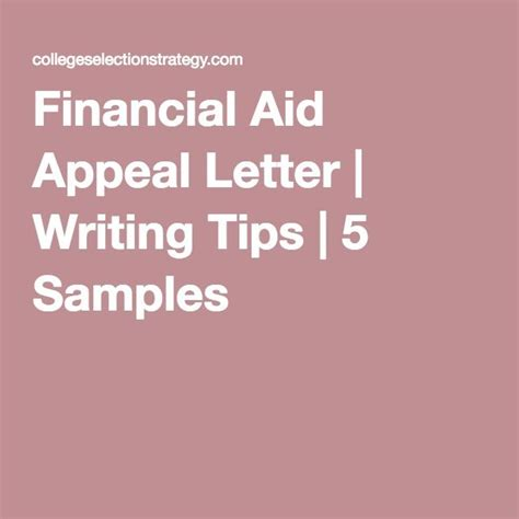 Mba Financial Aid Tips by Financial Aid Appeal Letter Writing Tips 5 Sles