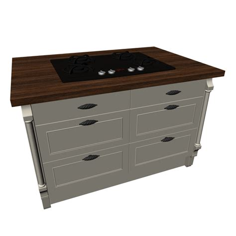 kitchen island with gas cooktop design and decorate your room in 3d