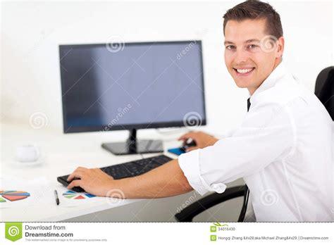 businessman working computer