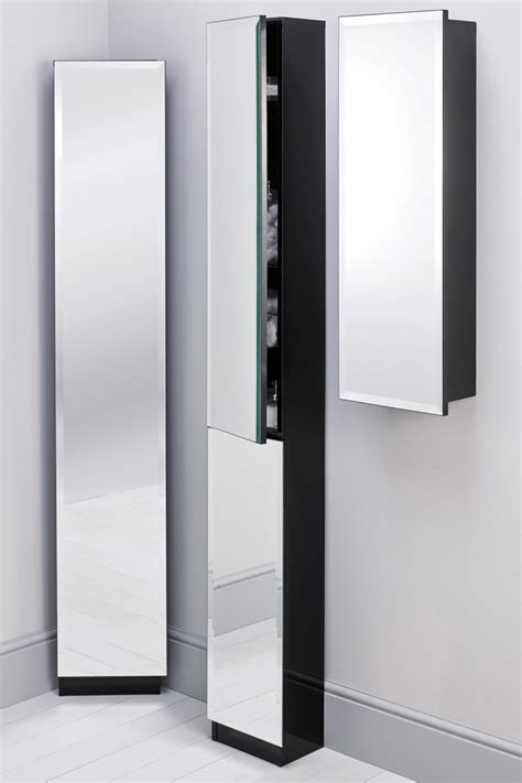 wood wall muonted modern bathroom storage cabinet with glass door in the corrner bathroom