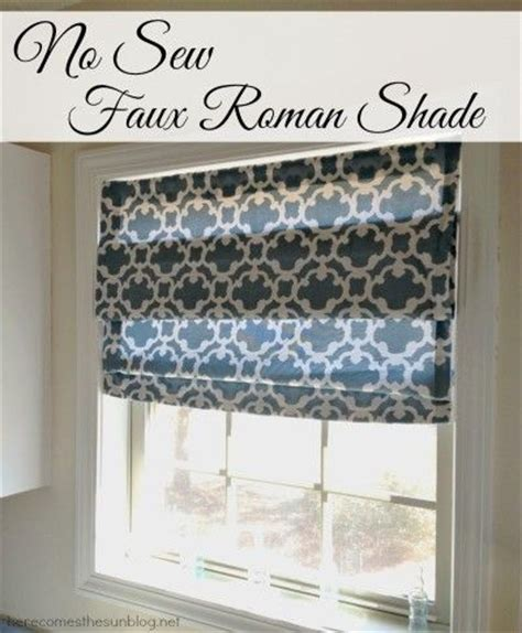 no curtains just blinds no sew faux roman shade window curtain rods roman and