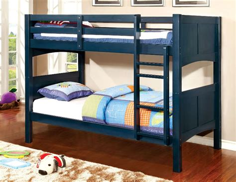 Guard Rails For Bunk Beds Prismo Ii Blue Solid Wood Bunk Bed W Guard Rails