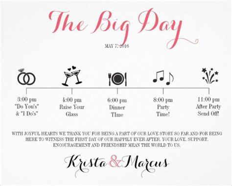free wedding day itinerary template wedding itinerary template 11 free word pdf documents