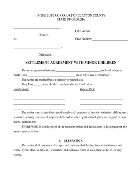 Exle Stipulation Agreement Letter child support agreement letter template templates