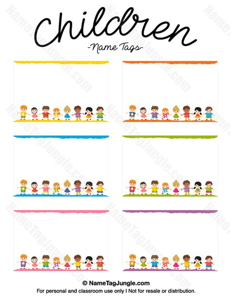 children s name card templates printable children name tags