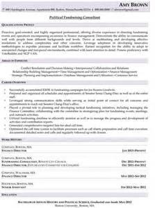 Fundraising Consultant Sle Resume political adviser sle resume