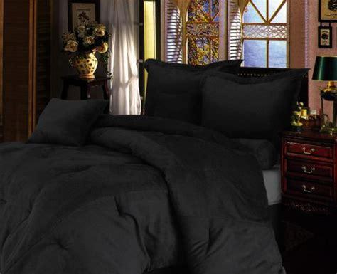solid black comforter full microsuede comforter