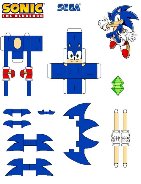 Sonic The Hedgehog Paper Crafts - sonic the hedgehog papercraft sonic by tvfan0001 on