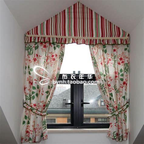 vorhang dreiecksfenster high quality linen fabric american style curtain triangle