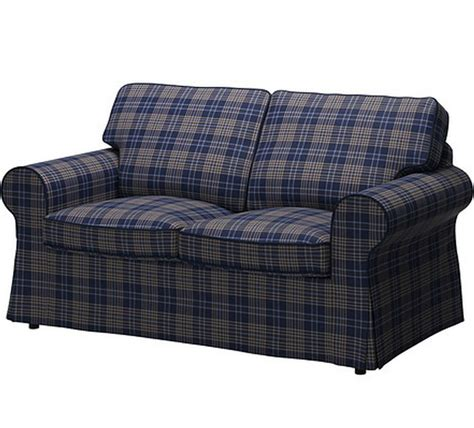 plaid couches and loveseats ikea ektorp cover loveseat 2 seat sofa slipcover rutna