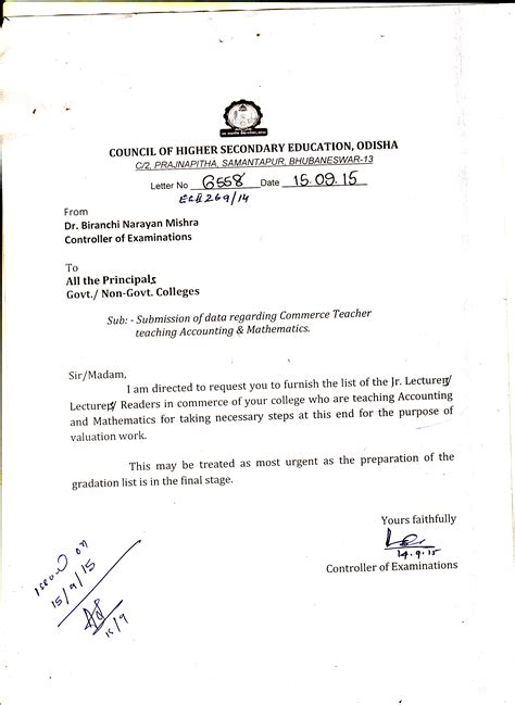 Credit Card Noc Letter Format council of higher secondary educationodisha