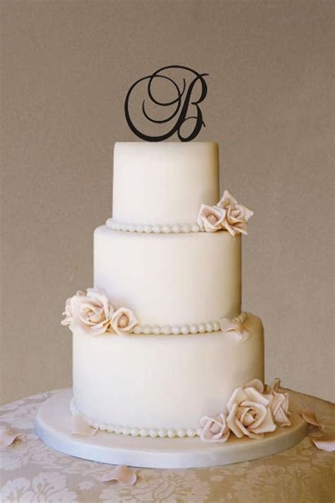 Monogram Wedding Cake by Custom Wedding Cake Topper Wedding Cake Topper Monogram