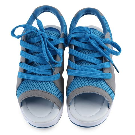open toe athletic shoes lace up trainers open toe sneakers mesh platform