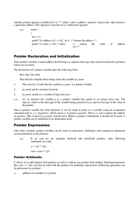 C pointers and references C- Pointer Indirection