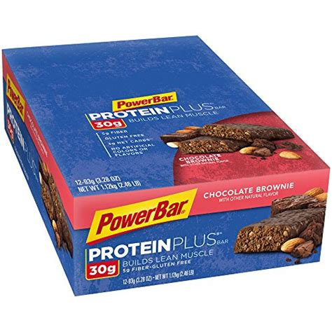2 protein bars a day powerbar protein plus bars chocolate brownie 30g protein