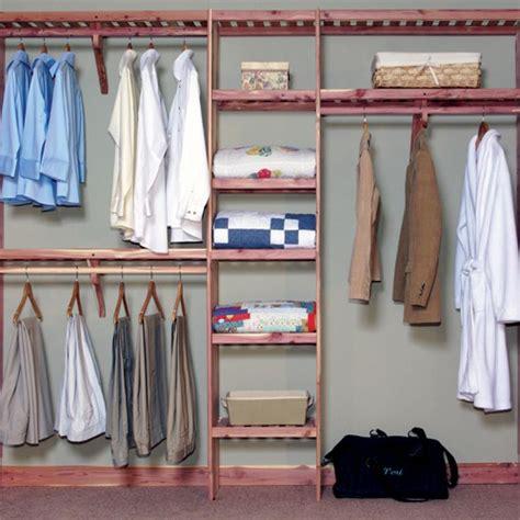 deluxe ventilated cedar closet wall kit home home