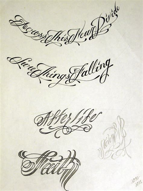 script writing tattoo designs script 2 by stevenworthey on deviantart