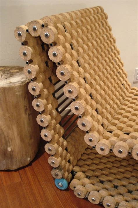 upcycled furniture cork cork chair decoholic