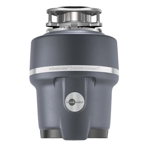 compact garbage disposal for sink insinkerator evolution compact 3 4 hp continuous feed