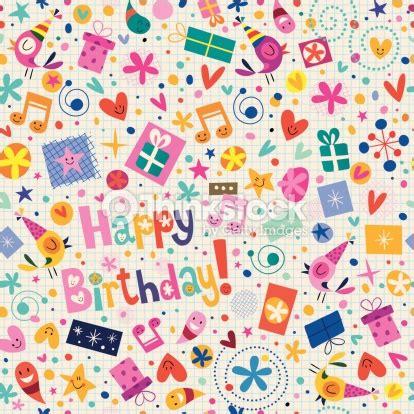Stensil Stencil Motif Happy Birthday Bunga Dekorasi happy birthday pattern vector thinkstock