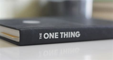 the one things books book review the one thing