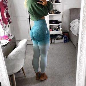 gymshark pants ombre seamless leggings xs blue nwt