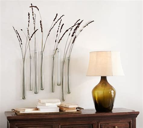 Pottery Barn Wall Vase by Reed Wall Mount Recycled Glass Vase Pottery Barn