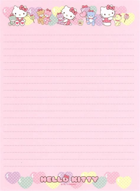 hello kitty stationery printable 316 best images about hello kitty 2 on