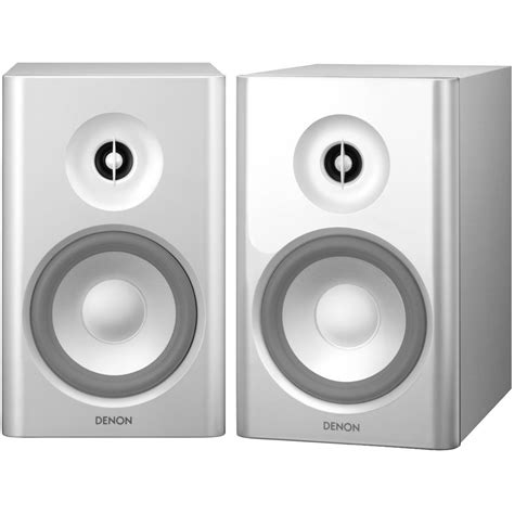 denon sc n7 2 way bookshelf speakers white sc n7 b h photo