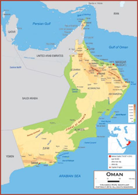 physical map of oman oman physical features images