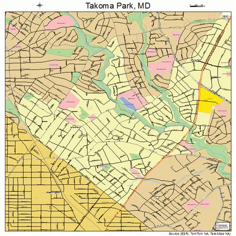 takoma park maryland street map 2476650