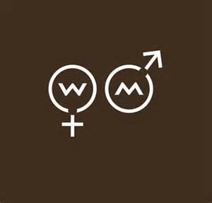 Universal Bathroom Design unisex logo design for bathroom signage flynn