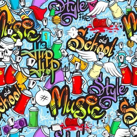 wallpaper grafiti kartun graffiti characters seamless pattern by macrovector
