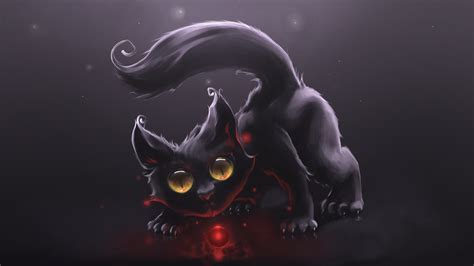 themes of black cat 3d cat hd wallpaper download
