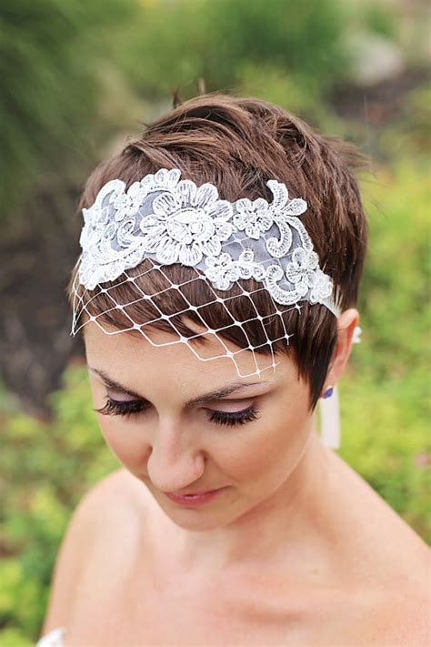 Pixie Cut Wedding Hairstyles With Veil by Wedding Veils For Hair