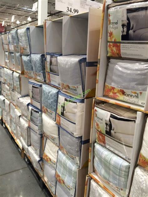costco bed sheets flannel sheet set 4 pieces full queen and king