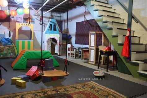 unfinished basement playroom playroom ideas