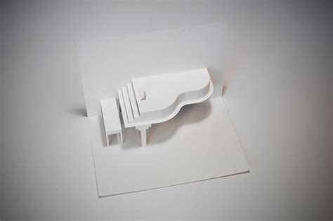 Pop Up Origami - origami piano pop up greeting card on behance