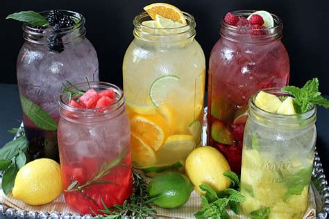 Detox Water Infused Drinks by The Healthy Bite Fruit Infused Water