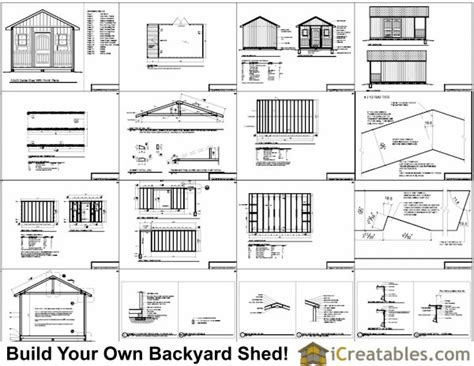 Free Shed Plans 12×20