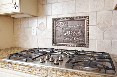 kitchen backsplash metal medallions 40 striking tile kitchen backsplash ideas pictures