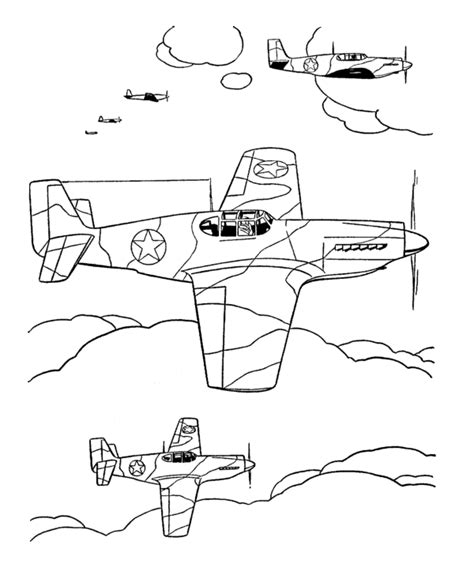 P 51 Mustang Coloring Pages by P51 Mustang Coloring Pages