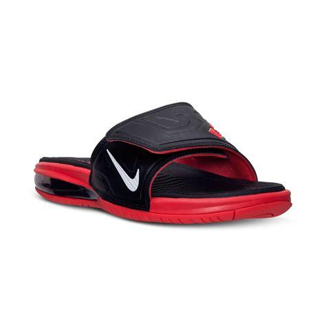 nike elite sandals nike mens air lebron 3 elite slide sandals from finish