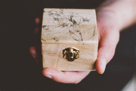 ready to ship rustic style engagement ring box quot be mine